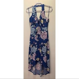Blue floral women's dress